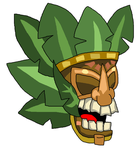 Tiki Knight Helm by teamlpsandacnl