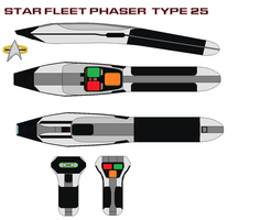 Star fleet phaser  type 25 by bagera3005