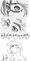 faces n stuff by Loopy44