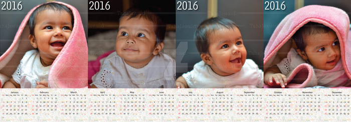 Infant Calendar 2016 (4 pages based) by TahaJawaid