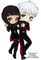 Aster and Jay Chibi by sfallen