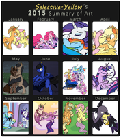 2015 Summary of Art by Selective-Yellow