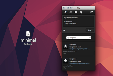 Itsy Theme - minimal by Side-7
