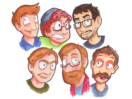 Achievement Hunters: Assemble! by TonyTheToonist