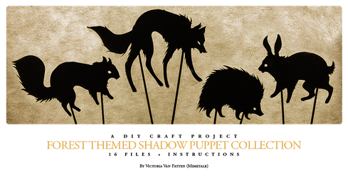Forest Themed Shadow Puppet Collection by mimetalk
