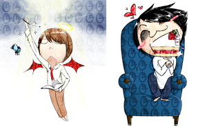 Death Note chibis by OMGProductions