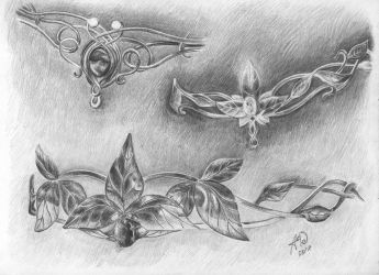 Elven diadems by Architect-of-Dreams
