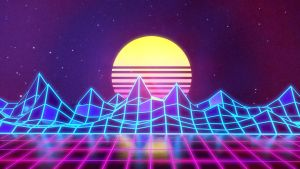 Synthwave - Neon 80s - Background - Render by Rafael-De-Jongh