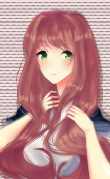 Monika DDLC (+open commissions!) by APPLE-NYAN6