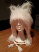Fluffy White Wolf Hat 1 by Thoaee