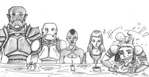 Dinner somewhere in Eberron by L0u1sa