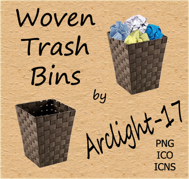 Woven Trash Bins by Arclight-17