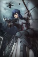 Motoko Kusanagi (Ghost in the Shell) by VezoniaArtz