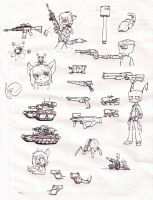A page of drawings by Sandwich-Anomaly