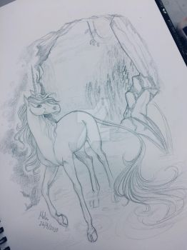 Pencil sketch by thatoddsprite