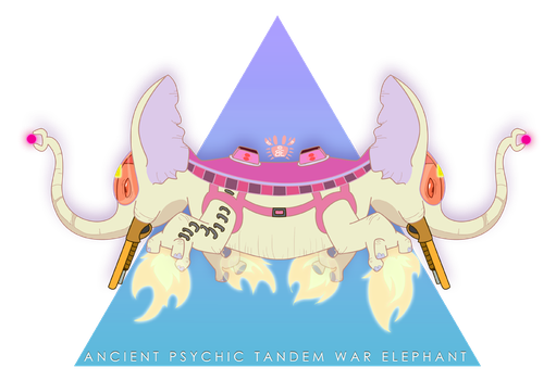 Ancient Psychic Tandem War Elephant by britgorlicki