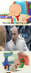 Dr. Evil saying no to Caillou by Dreddzilla