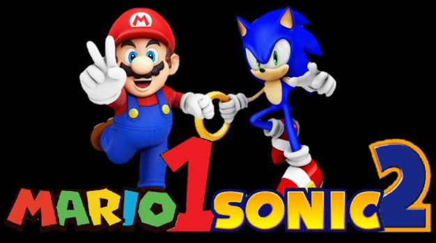 Newer Mario1Sonic2 Logo  by AngelofGoddessAplis