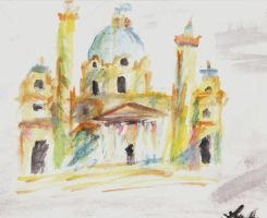 Karlskirche Church by aDollInDisguise