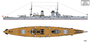 Austro-Hungarian Project VI Battlecruiser Design by Tzoli