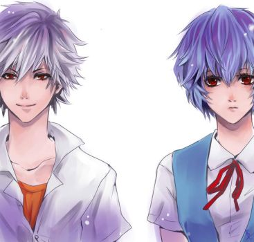 EVA characters 01 - Evangelion by Sobachan