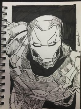 Iron Man (Ink Art) by Gaming-Master