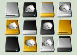New MacIntosh Drive Icons by CitizenJustin