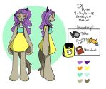 Plum Reference Sheet by Nyanimations