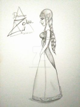 Zelda in Graphite  by Lost-Leanore
