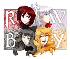 RWBY by Mockingbyrd