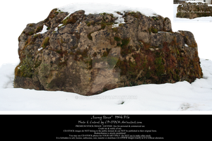 Snowy Stone PNG by CD-STOCK Premium Stock by CD-STOCK
