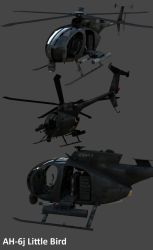 AH-6j Little Bird by Artificialproduction