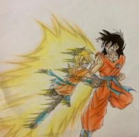 Tilla vs Yamcha (Father's Day Request) by VorticalFiveStudios