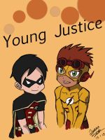 Young Justice Kiddos (Colored) by Oniarisawa12