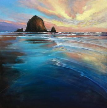 Cannon Beach reflects by artistwilder