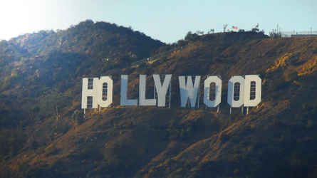 Sunset Hollywood Sign by DionisisZogaris