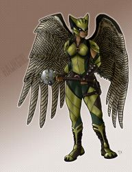 Justice League: Hawkgirl by greaperx666