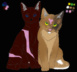 Vixenheart and Crowshadow by StarflightHolmes