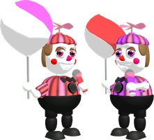 MMD FNAF Funtime BB + Funtime JJ DL by SoloBaka