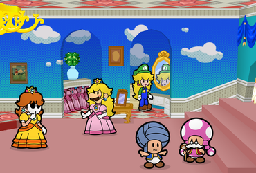 Peach's Dress Up Party by Nelde