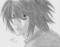 Death Note L Drawing by The-Avaricious