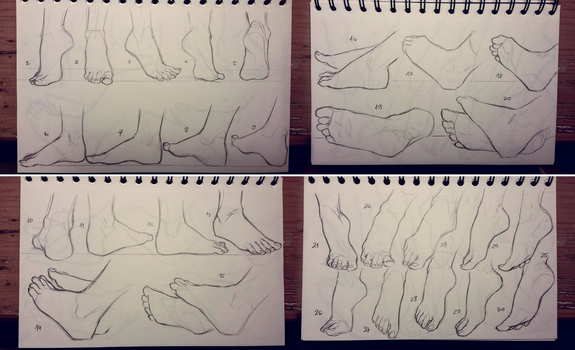 Feet study 1 by GoldenTar