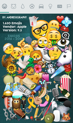 Emojis Apple (iOS 9.3) [2016] - Pack PNG by AndressGraphy