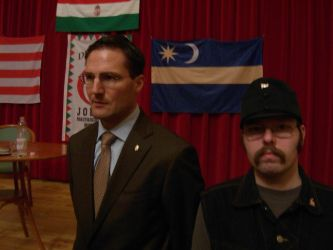 me and a JOBBIK Parliamentary Commissioner by Wakko2010