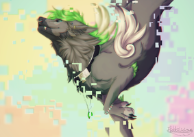 Pixelated .:FYCH:. + Speedpaint by Fichtiilicious