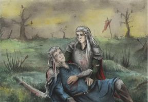 Oropher and Thranduil by AnotherStranger-Me