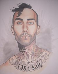Travis Barker Inked by Miko-the-moogle