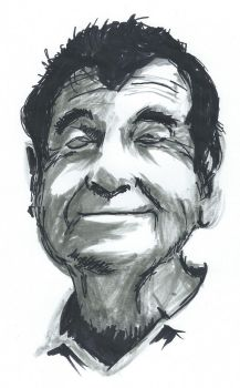 Marker drawing Walter Matthau by Barbarian-J