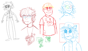 MS Paint Gorillaz Doodles by rnurdoc