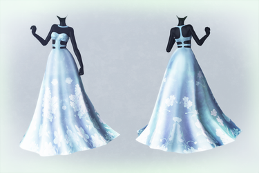 MMD Mythic Flower Dress Preview (Download for now) by AyaneFoxey